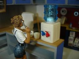 1/18 scale - Office/Shop Tabletop WATER COOLER- for your dio