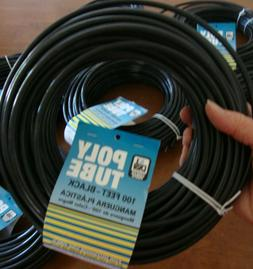 "1 Roll NEW DIAL Mfg 4321 100' x 1/4"" OD Black Poly TUBING Wa"