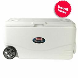 100 Quart Cooler With Wheels On Large Ice Big Rolling Family