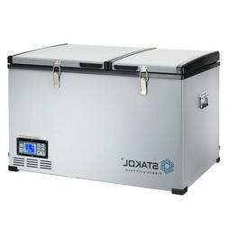 105-Quart Portable Compressor Camping Electric Car Cooler Ic