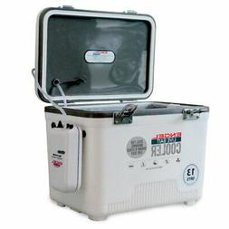 Engel 13 Qt Hard Sided Live Bait Fishing Dry Box Cooler with
