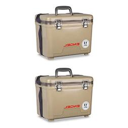 Engel 13 Quart Lightweight Fishing Dry Box Cooler with Shoul
