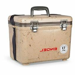 13Qt Engel Cooler Dry Box Uc 13 Tan 13 Quart W/ Shoulder Str
