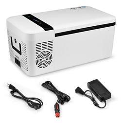 16 Quarts Portable Electric Car Cooler Refrigerator/Freezer
