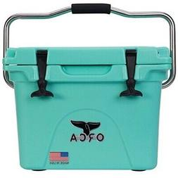 ORCA 20 Quart Seafoam Cooler with Flex Grip Stainless Steel