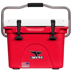 ORCA 20QT RED AND WHITE COOLER / LIFETIME WARRANTY / RED & W