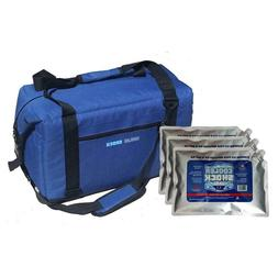 24 Hour Ice-Free Cooler Kit with 3 Large Screw Cap Ice Pack