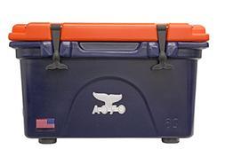 ORCA 26-Quart Collegiate Cooler, Dark Blue/Orange