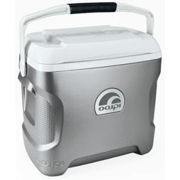 Igloo 28 Quart Iceless Thermoelectric Cooler Silver/White Ne