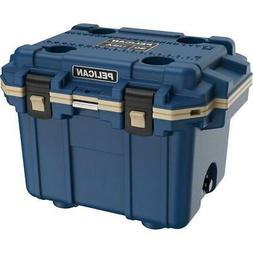 Pelican 30 Qt Elite Cooler, Hand Carry, Pacific Blue/Coyote