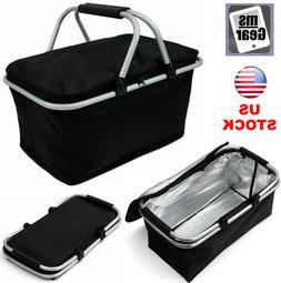 30L Insulated Thermal Bag Large Folding Picnic Basket Cooler