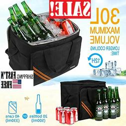30L Large Cooler Bag Soft Cooler Insulated Leakproof Collaps