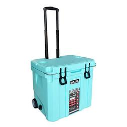 37 Quart Ice Chest Cooler Dolly Tote Bottle Opener Insulated