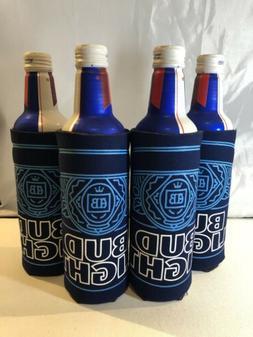 4 Aluminum Slim Bottle or Can Bud light  Coozie Koozie Set