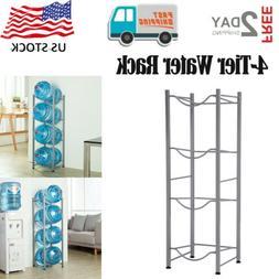 4-Tier Water Rack Heavy Duty Water Cooler Jug Rack for Home/