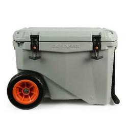 45 quart high performance wheeled cooler grey