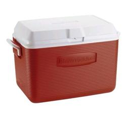 Rubbermaid 48-Quart Portable Ice Chest Cooler Red Holds 68 C