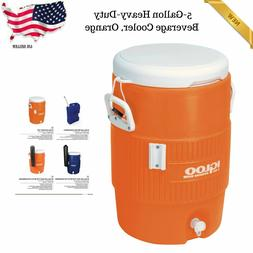 5-Gallon Water Cooler Beverage Sports Outdoor Summer Work Co
