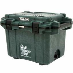 Pelican 50 QT Elite Cooler, Big Green Egg Logo, Green Body,