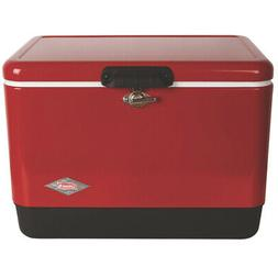 Coleman 54-Quart Steel-Belted Cooler - 3000000112, Red/Black