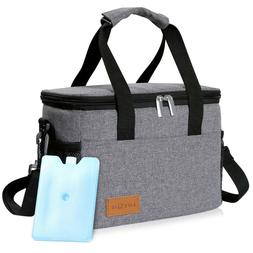 6L Insulated Lunch Bag Box Thermal Tote Cooler Picnic Food S