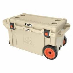 PELICAN 80QW-2-TAN Wheeled Cooler,80 qt.