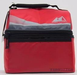 Arctic Zone 9 Can Cooler Red Day Cooler 2 Compartment 8x5x7