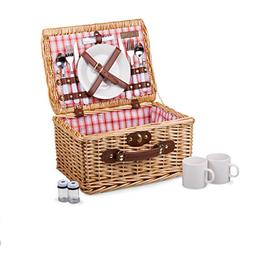 Picnic Time 'Catalina' English Style Picnic Basket with Serv