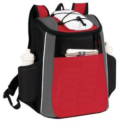"""Yens """"Accent"""" 18 Cans Cooler Backpack Red 6CP-252"""