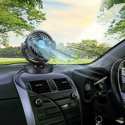 Adjustable 12V Fan 360° Rotating Mini Air Fan Cooler For Tr