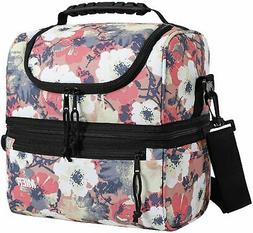 Adult Insulated Lunch Box Tote Bag Double Deck Cooler Men Wo