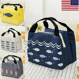 Adult Kid Portable Cartoon Lunch Bag Insulated Thermal Coole