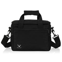Black/Gray Picnic Bag Insulated Lunch Box Cooler Meat Storag