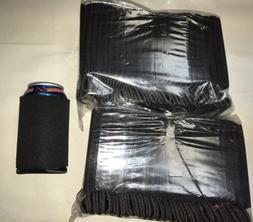 Black Huggie Can Cooler Koozie Blank Lot 50 Sublimation Scre