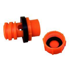 Blaze Orange Replacement Drain Plug w/ Hose Connection Coole
