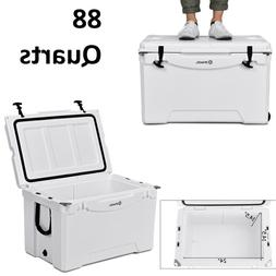 Car Cooler Ice Chest Portable With Wheel 80 Quart Capacity T