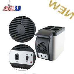 Car Refrigerator Mini Fridge Cooler&Warmer 6L, 12V Power for