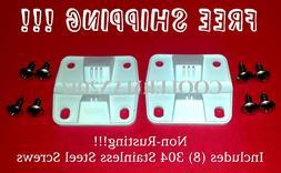 COLEMAN COOLER 2 PLASTIC HINGES 8 S.S. SCREWS 6262-1141 REPL