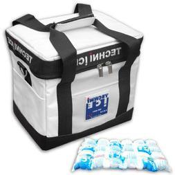 TECHNI ICE Cooler Bag 24Qt  Heavy Duty Insulated Plus 3x Reu