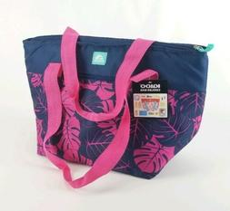 IGLOO Cooler Beach Bag Blue & Pink Palms 30 Cans  Insulated