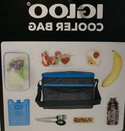 Igloo Cooler Lunch Bag Blue Insulated Zippered 6 Can Capacit