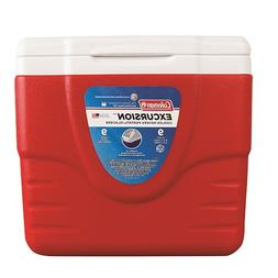Coleman Cooler Without Tray, Red, 9 Quart
