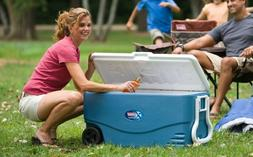 Coolers With Wheels Portable Ice Chest Picnic Backyard Party