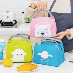 Cute Cool Insulated Lunch Pack Bag Kids Girls Boys School Pi