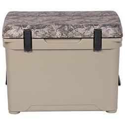Engel Deep Blue Cooler Tan W/ Camo Lid - 50 Quart - ENG50-C