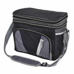 Double-layer Cooler Bag 12 Can Ice Pack Lunch Container Zipp