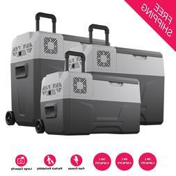 Electric Cooler Portable AC/DC Freezer Trolley Wheel Refrige
