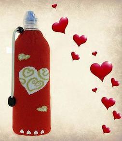 Hearts-Foldable Insulated Wine Bottle Bag Water Bottle Koozi