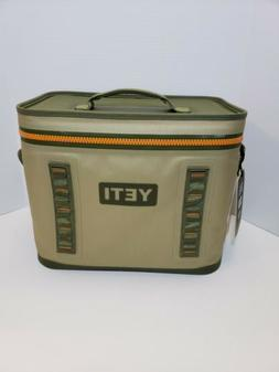 YETI Hopper Flip 18 Portable Cooler Field Tan/Blaze Orange-