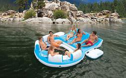Inflatable Island Raft 7 Person Floating Relaxation Pool Par